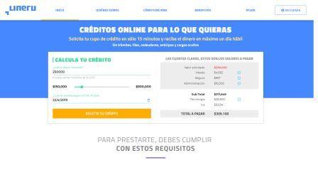 Lineru una forma fácil de solicitar créditos para reportados online